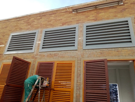 LOUVRES LOWER HEAT IN GENERATOR ROOMS.