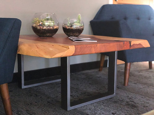 Custom Redwood Coffee Table