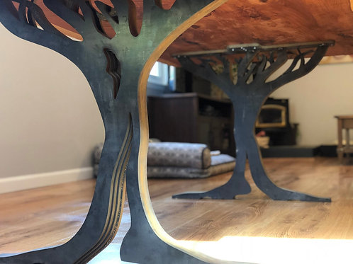 Live Oak Tree Metal Dining Table Legs