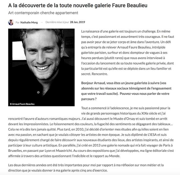 A la découverte de la Galerie Faure Beaulieu