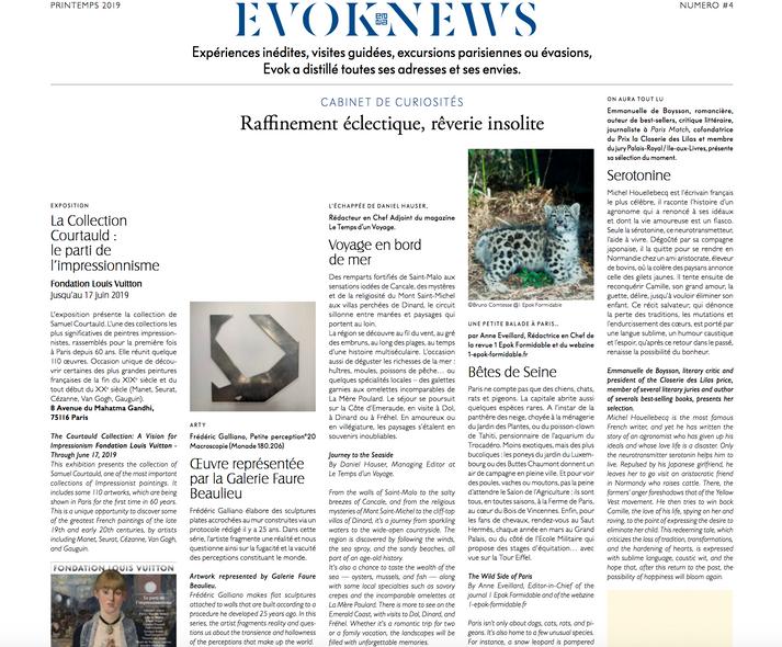 Evok News / Printemps 2019 / Frédéric Galliano