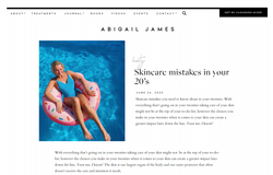 Abigail James | Skincare Mistakes In Your 20s