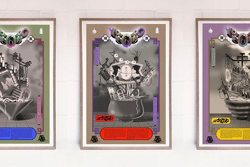 Yokocho Posters / Whole set of 3