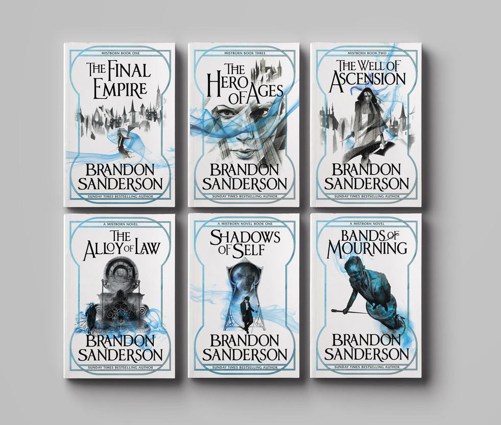 Brandon Sanderson UK edition covers