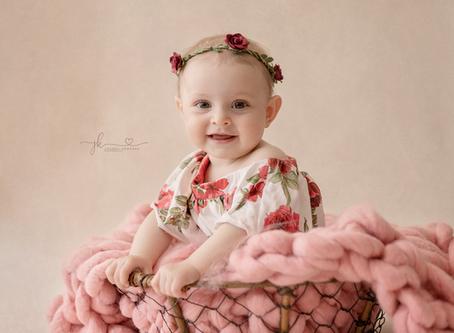 Saskatoon Baby Photographer    Baby Jasmine   Saskatoon Photographer     Baby's Milestones Portraits