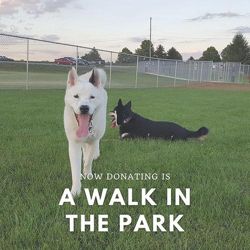 Donation to Glen Rock Dog Park
