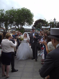Arriving at the Village Hall