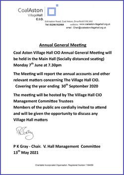 AGM 2020 Notice