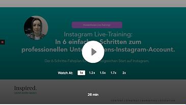 Instagram Video Training Banner Inspired