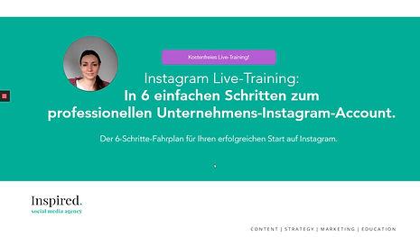 Instagram Starter Video Training