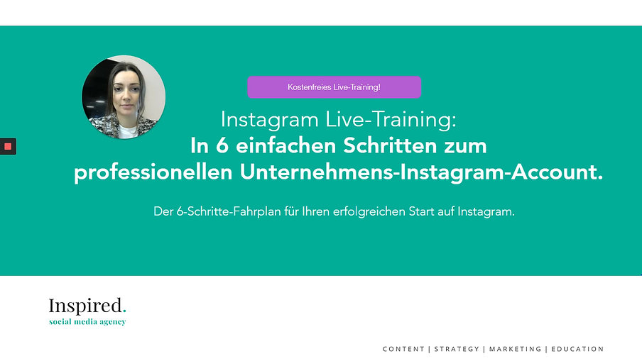 Instagram Starter Video Training