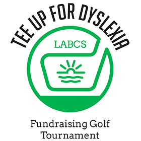 Logo for Lakes and Bridges Charter School's Tee Up for Dyslexia Fundraising Golf Tournament