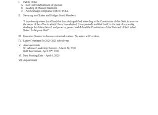Board Meeting - 3-14-20
