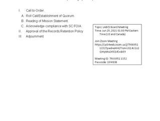 LABCS Board Meeting - 6-29-21