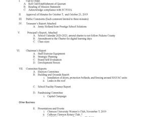 Board Meeting - November 4, 2019
