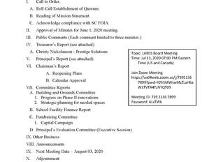 Board Meeting - 7-13-20