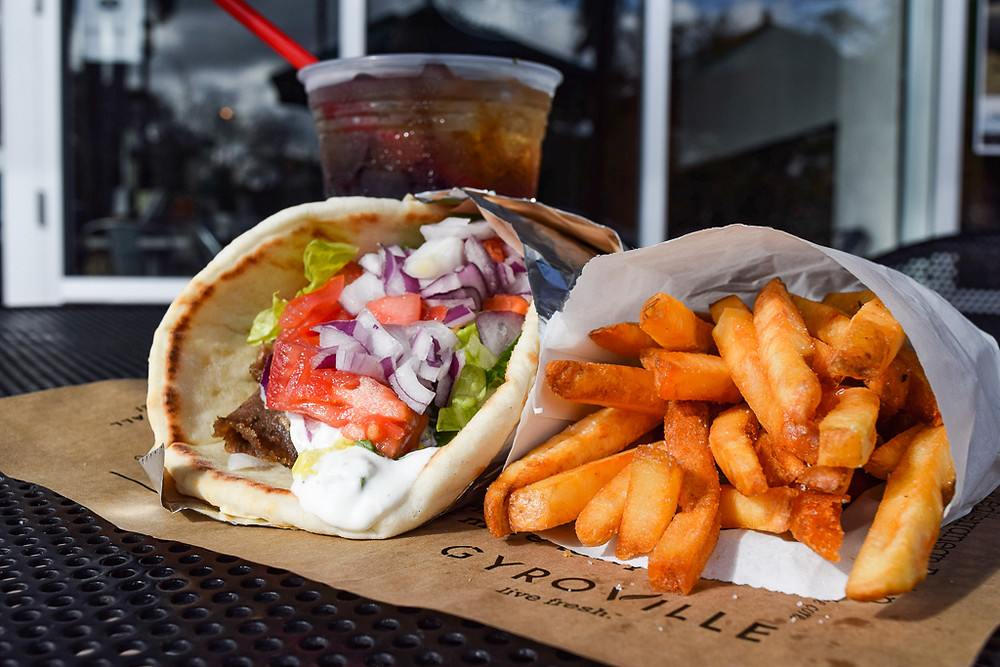 Customers visiting Gyroville for National Gyro Day on September 1 will be able to purchase a Gyro sandwich for $4 (not including sales tax). The healthy, build-your-own fast-casual Mediterranean restaurant has eight locations in Southeast Florida.  Gyroville has been a staple in the Miami-area dining scene since opening its first location in 2010 in Fort Lauderdale. The brand has since opened locations in Plantation, Pembroke Pines, Miami Lakes, Doral, and Kendall, and plans to open additional franchise locations this year in Orlando and Ecuador.  The concept allows customers to follow their choice of protein from the grill or vertical spit through an assembly line process where they choose from fresh ingredients and homemade sauces for their pita sandwich, wrap, rice bowl, or salad. Sustainable and locally sourced fresh ingredients are delivered every day and sauces are made fresh daily. The traditional Tzatziki sauces begin with 100 percent Greek yogurt and customers can choose modern variations such as Spinach Jalapeño, Spicy Feta, and Mediterranean Honey Mustard.