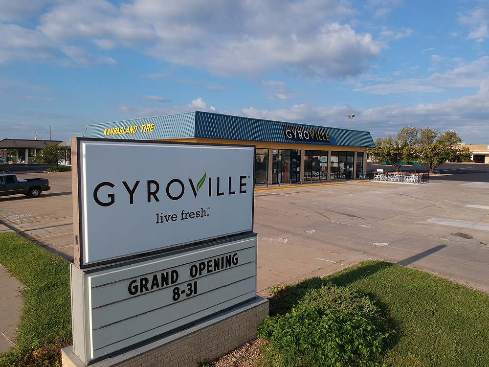 """Gyroville, located in the Villa West Shopping Center at 29th and Wanamaker, held its grand opening Thursday. You place your order much like Chipotle, starting with what bread you want, followed by the meat, veggies, sauce and any extras.  One of the owners said she was excited for the opening, because people started showing up to the restaurant before they were even open.  """"We had soft opening,"""" Nataliya Miller said. """"We didn't advertise and people started to come already and they were asking 'when, when, when' and so it was really great.""""  Gyroville has eight other locations throughout Florida. The Topeka location is their first one outside the Sunshine State."""