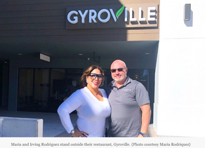 "Retired NYPD Couple Bringing Gyroville, a Restaurant ""All About Living Fresh"""