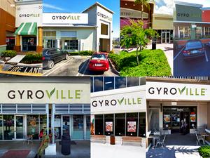 Gyroville differents locations front entrance Ft. Lauderdale, Plantation, Kendall, Doral, 17st Ft. Lauderdale, Pembroke Pines, Miami Lakes,