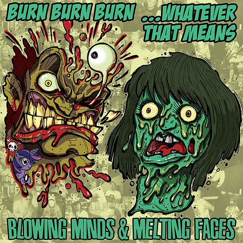 "Bx3/WTM Split 7-inch ""Blowing Minds & Melting Faces"" 7-inch Record+MP3"