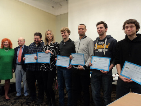 BESTT Trainees receive their certificates.