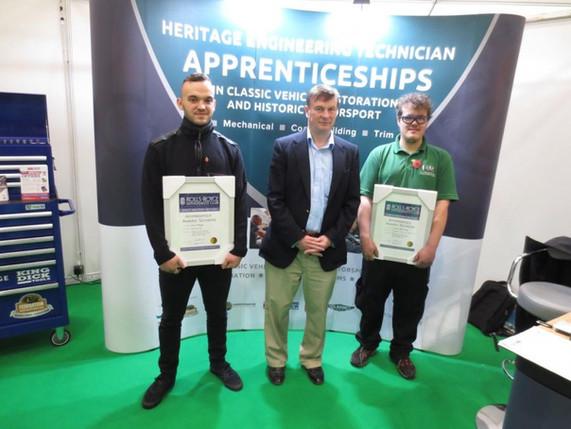 Zack Whyte & Simon Pickering awarded