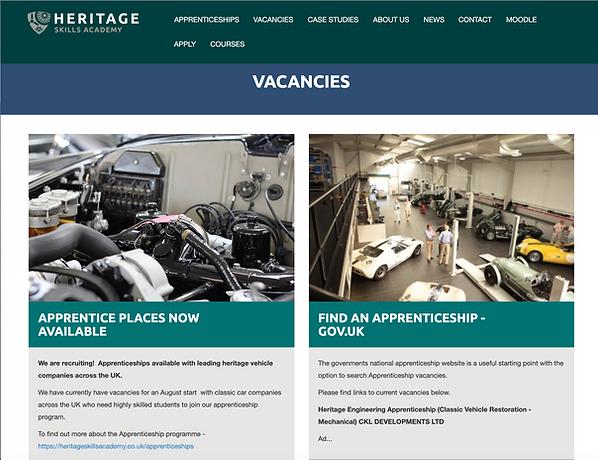 Classic Car Restoration apprenticeships