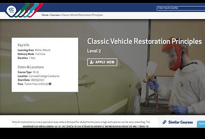 Level 2 Classic Vehicle Restoration Principles.