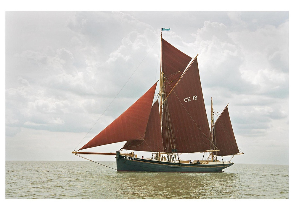 Pioneer sailing ship under sail in 2003.