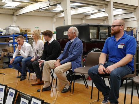 The recipients await their awards at Fiennes Restorations