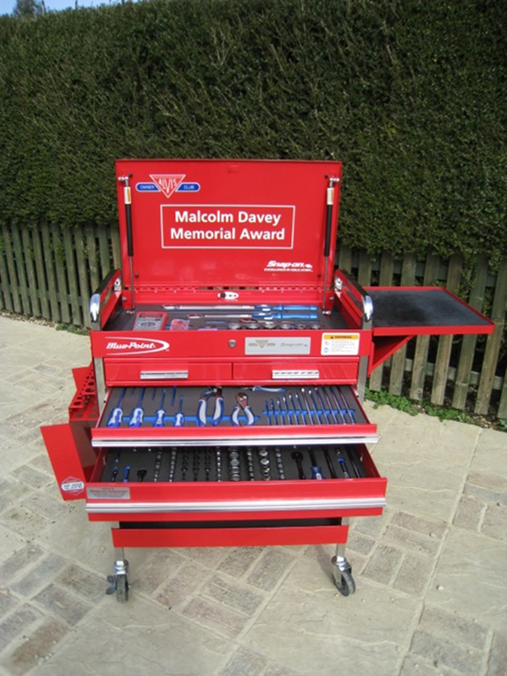 The prize - £1,700 worth of Snap-On tools.