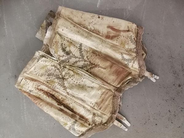 Embroidered cream armoured girdle