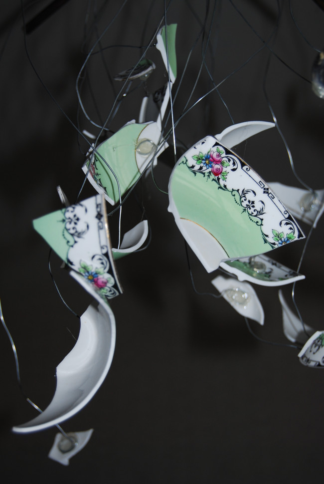 Smashed cup and saucer