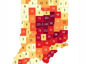 Indiana reporta 5,507 casos confirmados y 173 fallecidos