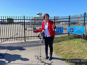 Candidate Amy McGrath encourage kentuckians to vote