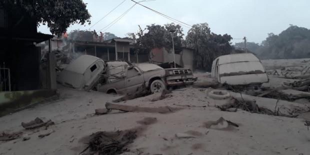 Daños después de la erupción del volcán de Fuego, de Guatemala. EFE/M. Defensa Guatemala
