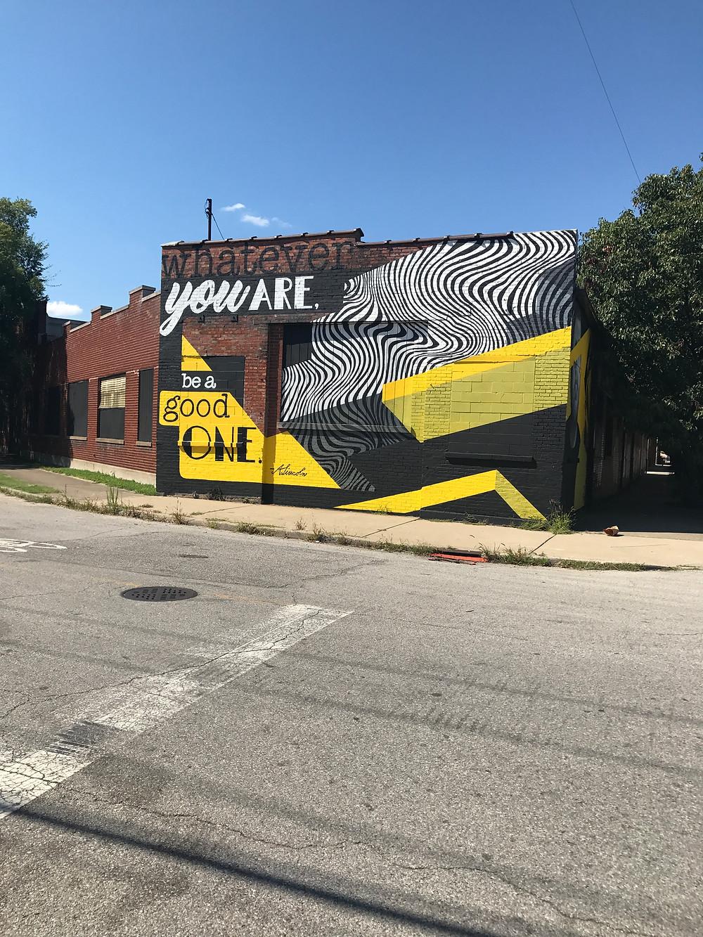 Ejemplo de un mural pintado en Portland, Louisville.