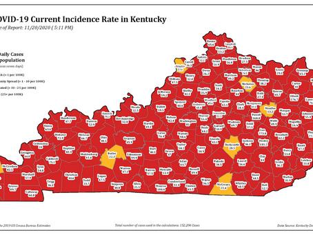 Continúa escalada de casos en Kentucky