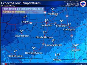 Se pronostica otro sistema con clima invernal el miércoles