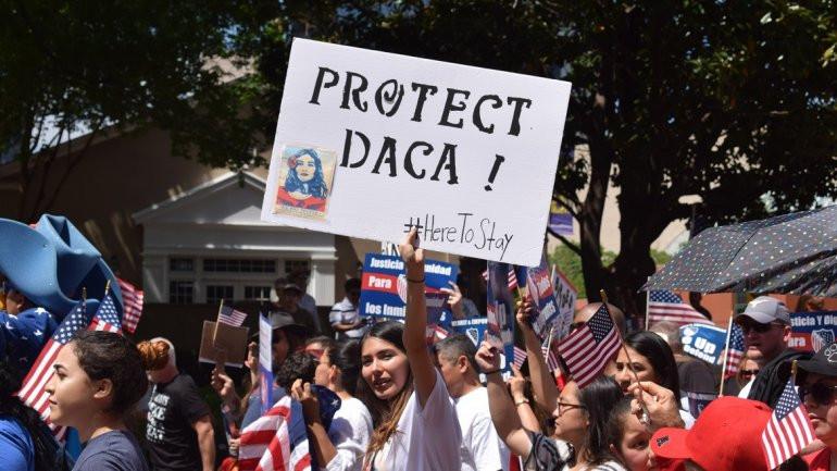 Protesta de estudiantes a favor del DACA. EFE archivo.