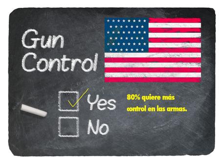 Más del 80 % de estadounidenses quieren más control de armas, según estudio