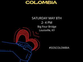 Comunidad colombiana local se une al clamor por el cese a la represión