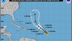 La fuerza de los vientos del huracán Sam aun sigue creciendo