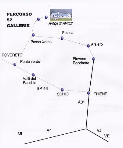 percorso 52 galerie e Malga Campiglia
