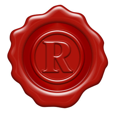 Registered trademark symbol as a wax sea