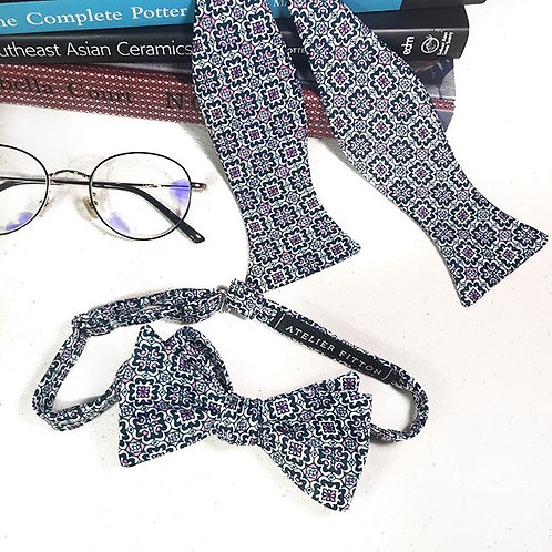 Ornament Navy Blue Bow Tie