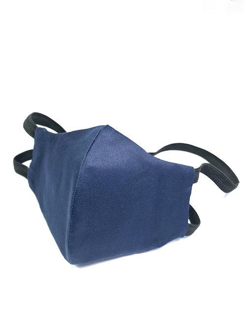 Navy Blue Cotton Sateen Face Mask