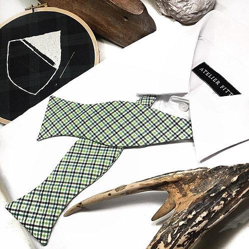 Green Checks Bow Tie