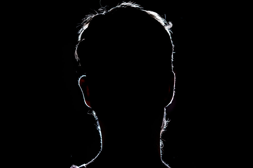 lighten portrait silhouette of a human h